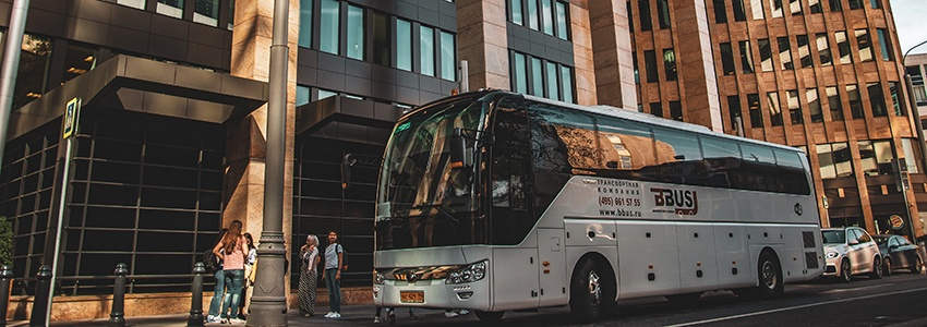 Rent a bus for corporate transportation in Moscow